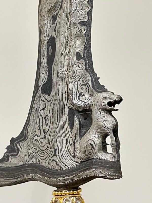 Keris Singo Barong Qilin Lion Pamor Untu Walang – ZKF-396